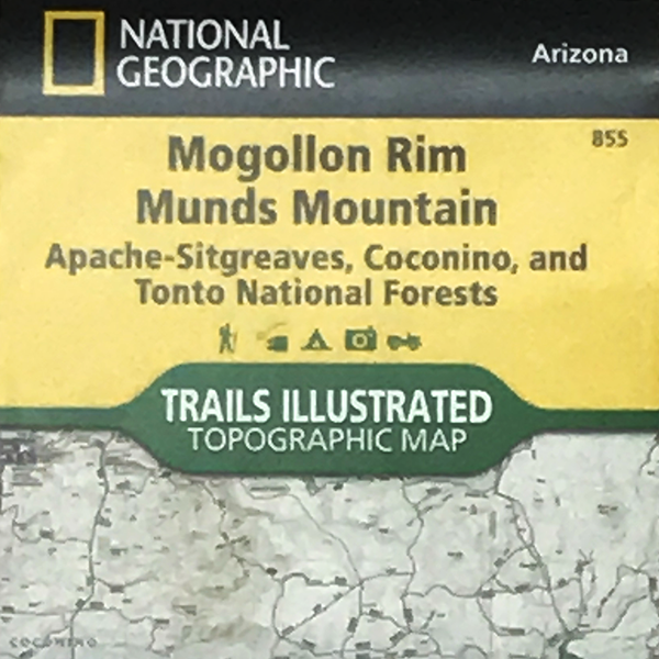 Mogollon Rim And Munds Mountain Map